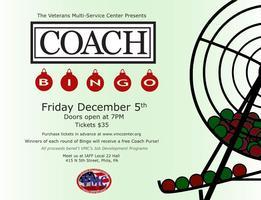 Veterans Multi-Service Center's Coach Bingo Fundraiser!