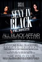 "SOCIAL FRIDAYS ""SEXY IN BLACK"" all black affair @THE..."