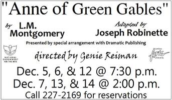 """""""Anne of Green Gables"""" directed by Genie Reiman"""