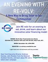 An Evening with RE-volv: A New Way to Bring Solar to...