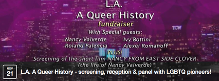 L.A. A Queer History - screening, reception & panel...