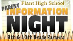 Parent Information Night for 9th & 10th Grade