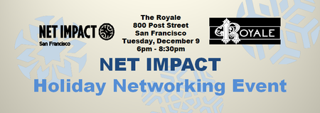 Net Impact San Francisco Holiday Networking Event @...