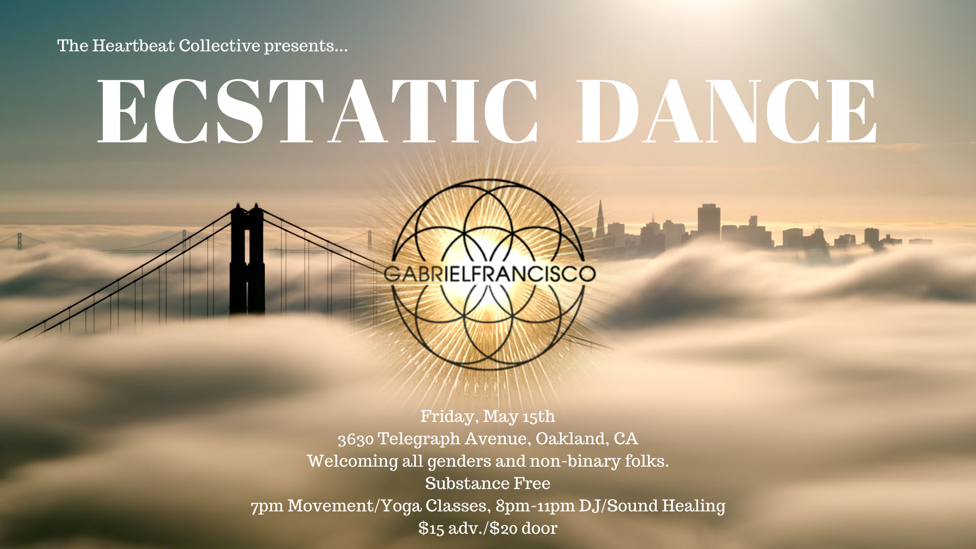 Ecstatic Dance at The Heartbeat Collective with Gabriel Francisco