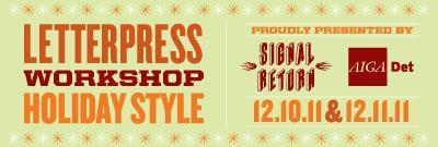 Letterpress Workshop - Holiday Style