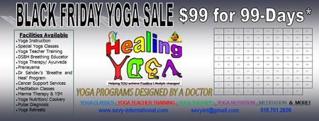 Black Friday Yoga Sale – $99 for 99 Days