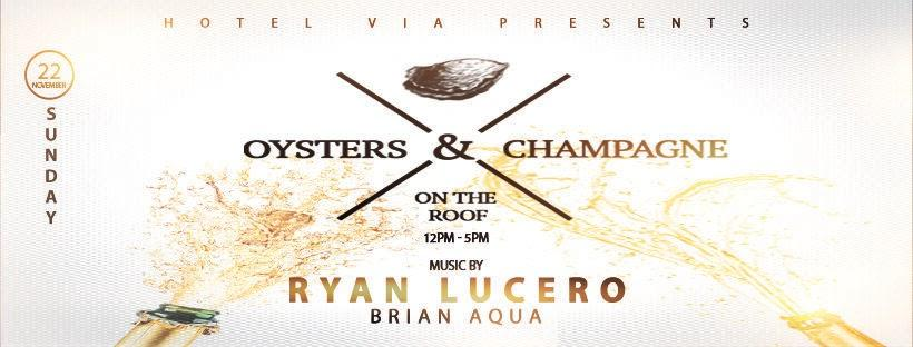 Oysters & Champagne BRUNCH Party at ROOFTOP | 360 Degree View