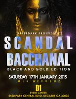 SCANDAL & BACCHANAL  BLACK AND GOLD EDITION