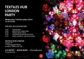 TEXTILES HUB LONDON STUDIO PARTY