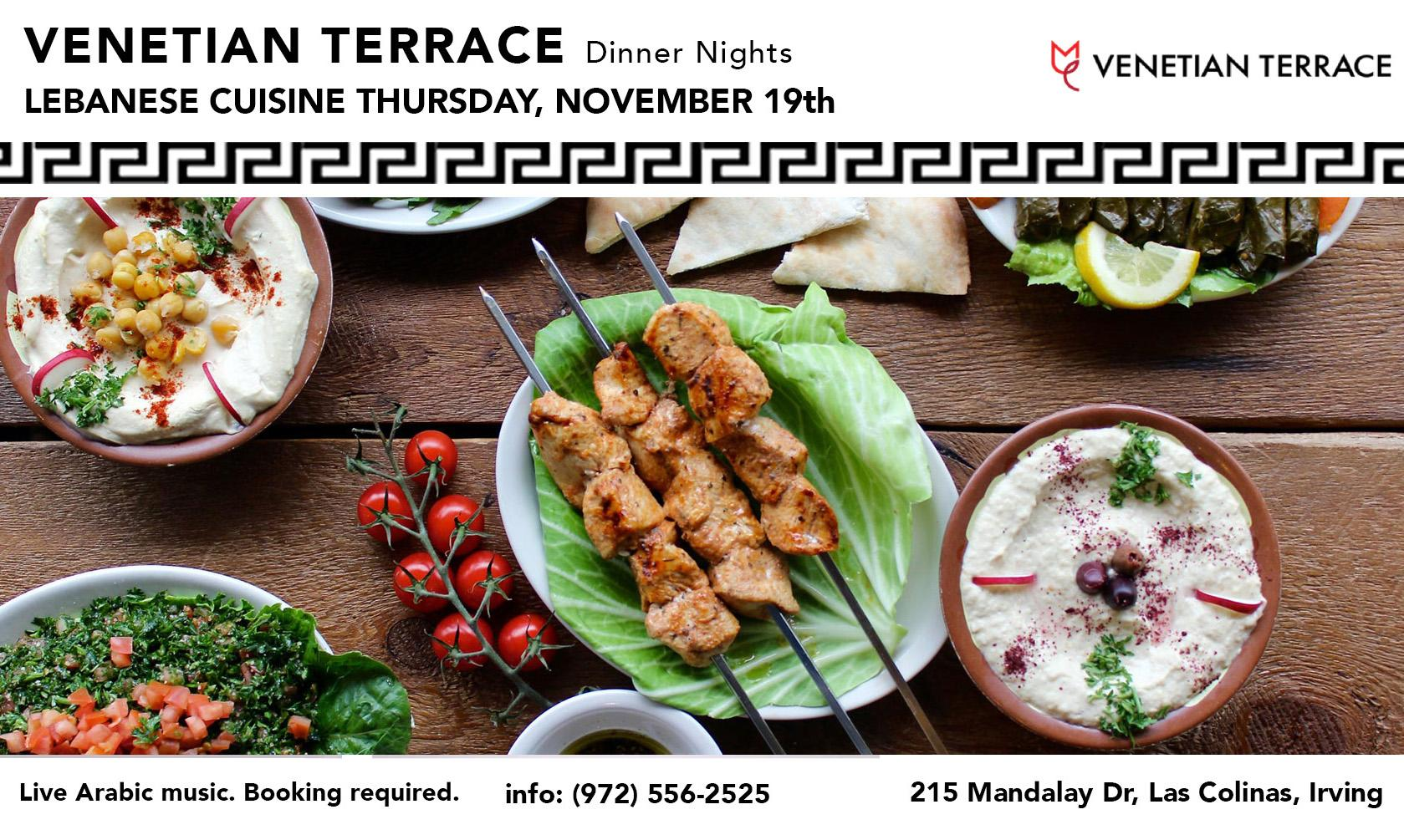 Venetian Terrace LEBANESE Dinner Nights