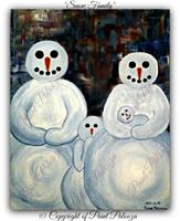 """Paint Party - """"Snow Family"""""""