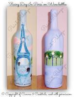 """Paint Party - """"RAINY DAY IN PARIS"""" (Wine Bottle..."""
