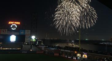 Fireworks in McCovey Cove - Giants VS D-Backs