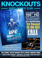 3/16/13 UFC 158 PARTY Pierre-Diaz at KNOCKOUTS Gentlemen's...