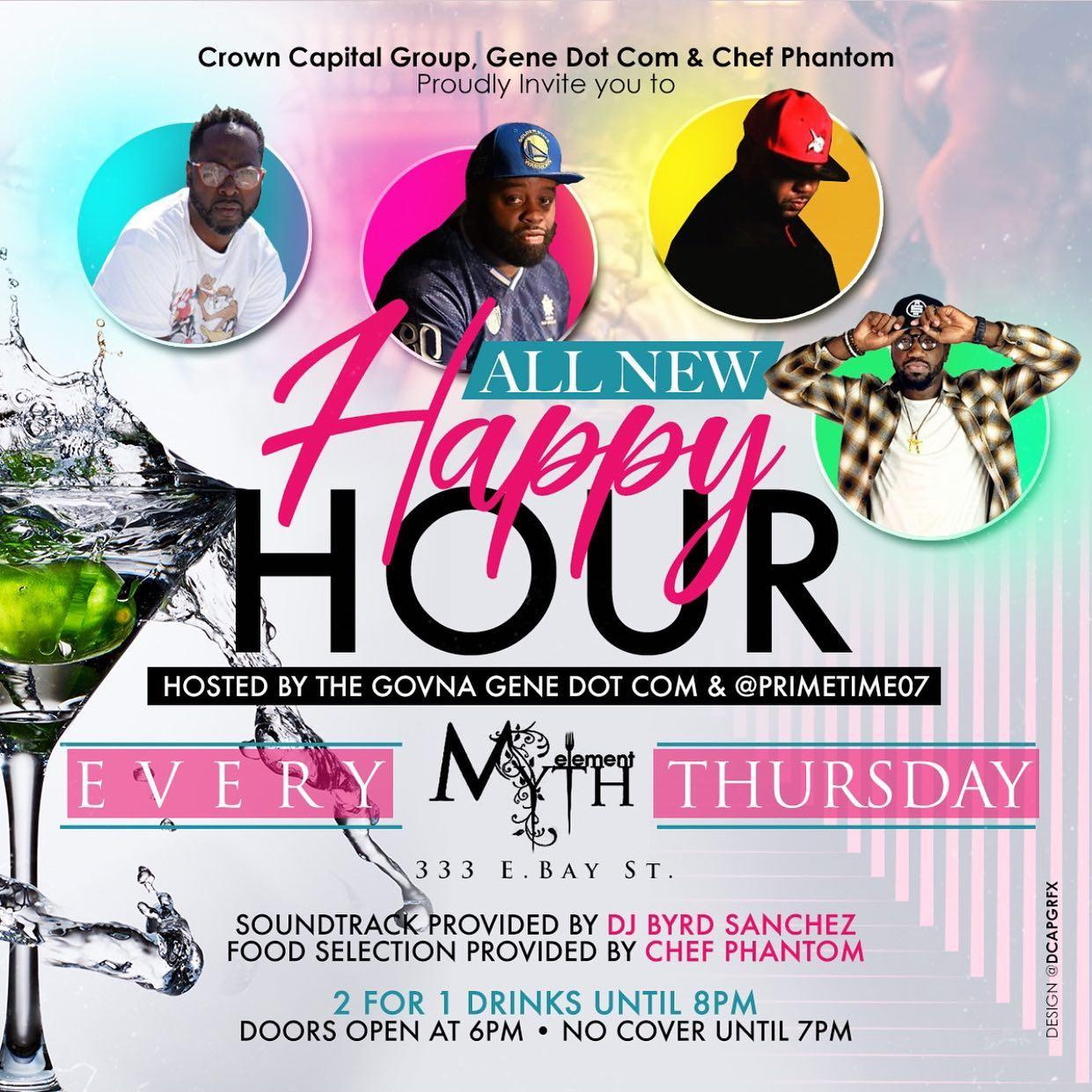 Crown Capital Thursdays at Myth + Element (Happy Hour)