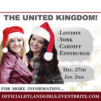 THE HYLAND GIRLS.....KELLY, BROOKE AND PAIGE IN THE UK...