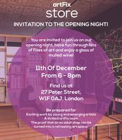 Invitation to the Opening Night of the first artFix Spa...