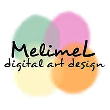 MelimeL Digital Art Design, www.mldigitalart.com logo