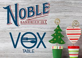 A very VOX Holiday @ Noble Sandwich Co.