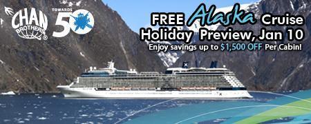 Alaska Cruise Holiday Preview! (10 Jan 2015, 11am)