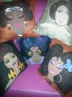 """Dolled Up Pillows"" Hand Painted by Ms. Sandy"