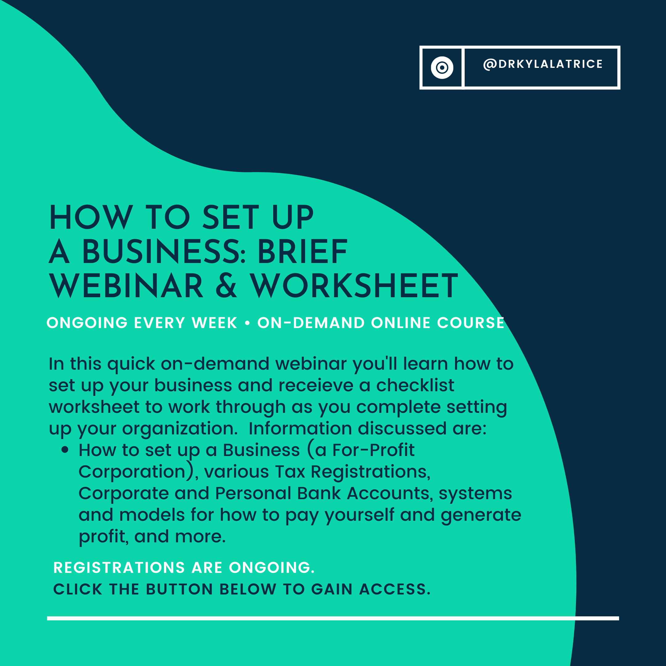 How to Start & Set-up a Business: Brief Webinar and Checklist/Worksheet-NY