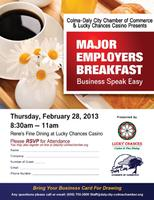 Major Employer Breakfast Business Speak Easy