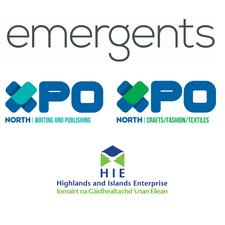XpoNorth Crafts, Fashion & Textiles and Writing and Publishing delivered through Emergents Creatives logo