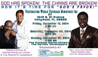 """""""GOD HAS SPOKEN! THE CHAINS ARE BROKEN! NOW ITS TIME..."""