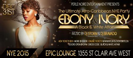EBONY & IVORY - THE ULTIMATE AFRO-CARIBBEAN NYE 2015...