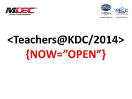 Teachers@KDC 2014: 3D Printing Workshop