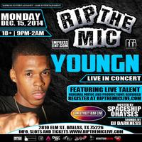 """RIP THE MIC FEATURING """"YOUNGN"""" LIVE @ ELM STREET BAR"""
