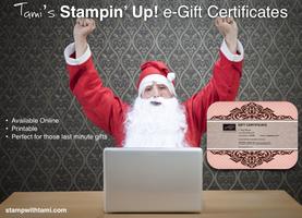 Stampin Up e-Certificates Online - valid thru Tami...