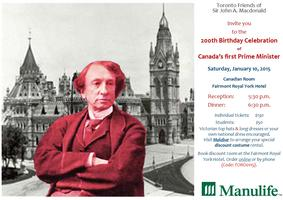 200th Birthday Celebration of Sir John A. Macdonald