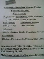 UHWC-Fundraiser Event!