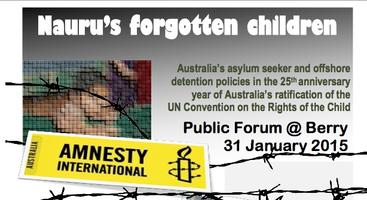 Nauru's Forgotten Children: Public Forum at Berry,...