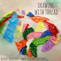 Drawing with thread (un-embroidery)