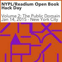 NYPL/Readium Open Book Hack Day, Volume 2: The Public...