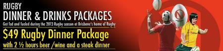 Rugby Dinner Package [Reds v Rebels]