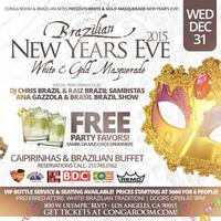 Brazilian White & Gold Masquerade New Years Eve Party...