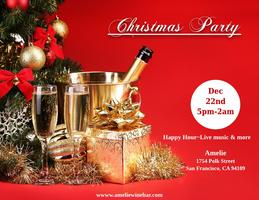 Christmas Party at Amelie wine bar