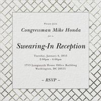 Congressman Honda Swearing-In Reception