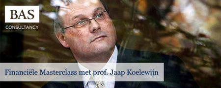 Financiële masterclass met prof. Jaap Koelewijn