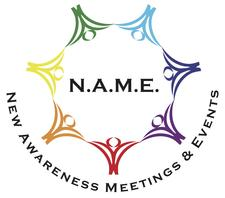 N.A.M.E: New Awareness Meetings & Events logo