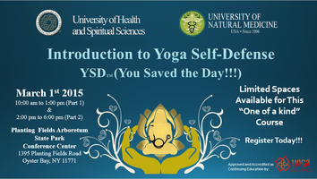 Yoga Self-Defense YSD (You Saved the Day!!!) Course –...