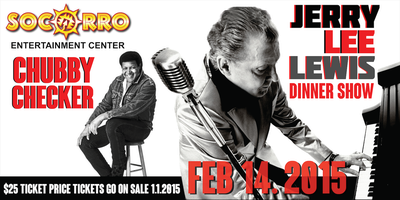 Jerry Lee Lewis and Chubby Checker Dinner Show