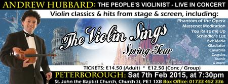 The Violin Sings Tour: Andrew Hubbard Live in Concert...