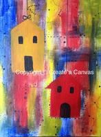 SPRING BIRDHOUSES - Create a Canvas