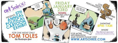 Art Soiree's 5th Annual Political Cartoon Exhibit...