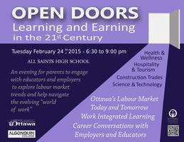 Open Doors: Learning and Earning in the 21st Century
